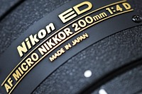Nikkor AF Micro 200mm f/4D ED
